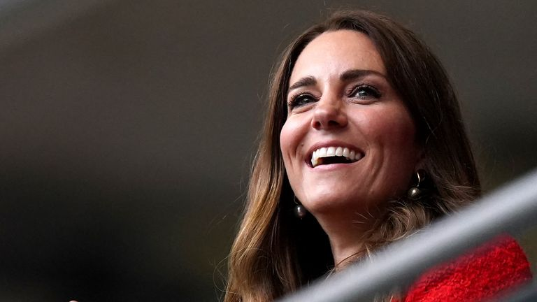Prince William, Prince George and Princess Kate were in attendance as England beat Germany 2-0
