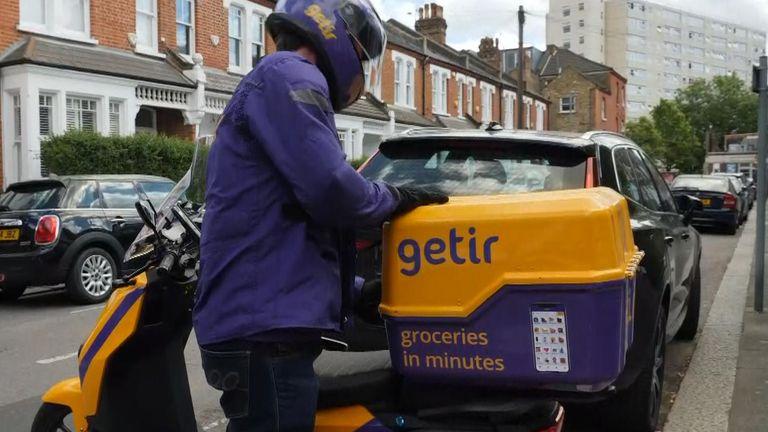 Getir delivery rider London