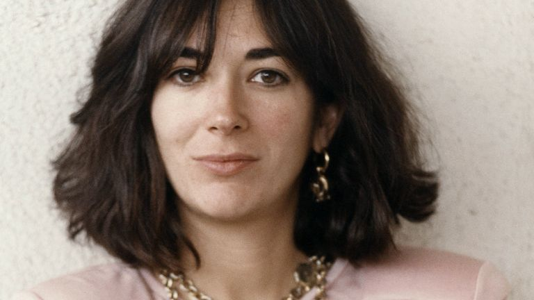 Ghislaine Maxwell pictured in 1991. Pic: Mirrorpix/Sky UK