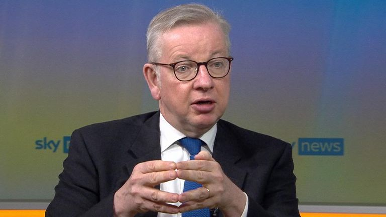 Cabinet Office Minister Michael Gove.