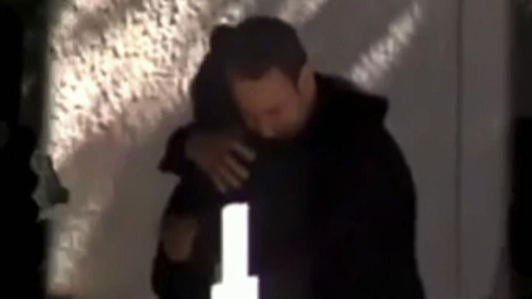 Babis Anagnostopoulos hugged the grieving mother of his dead wife at her memorial service - just hours before he confessed to being her killer