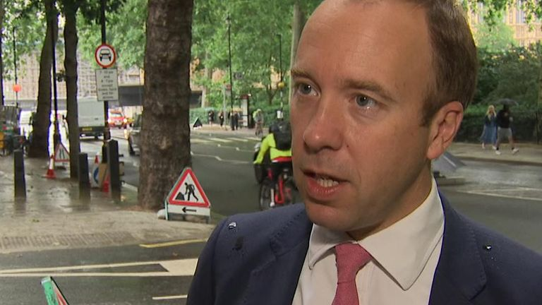 Health Secretary Matt Hancock 'not ready' to drop self-isolation rules for people with both jabs yet but confirms it will happen.