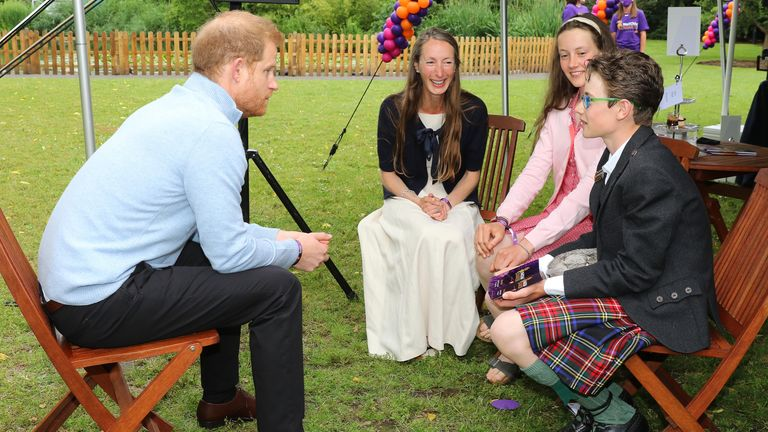Harry meets Inspirational Young Person award winner William Cuthill