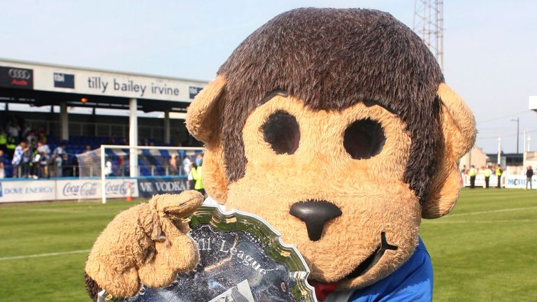H'Angus the Monkey is Hartlepool United's mascot