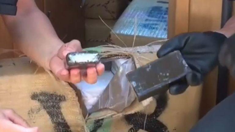 Huge haul of hashish seized on yacht off coast of Sicily