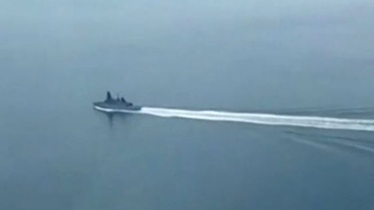 Russia claims this is HMS Defender in the Black Sea