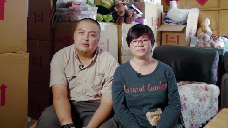 Donna Kong and Fei Wan are among about 34,000 Hong Kongers who have taken up the UK's visa offer
