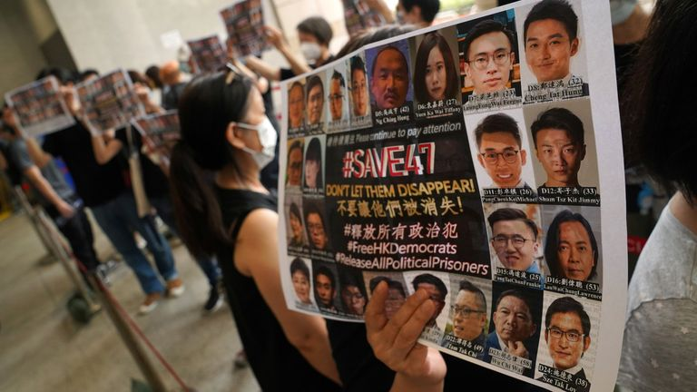 Dozens of pro-democracy activists have been charged with violating Hong Kong's national security law since it was introduced last June