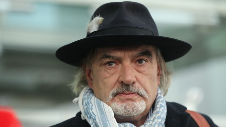 Ian Bailey outside Dublin's High Court after it rejected an attempt by French authorities to extradite him in 2020