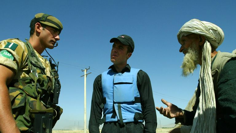 Interpreters helped British forces following the invasion of Afghanistan