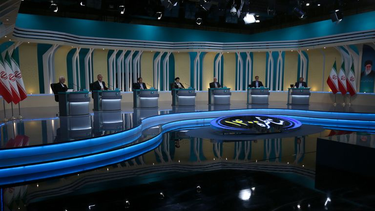 Iran's presidential candidates taken part in a TV election debate