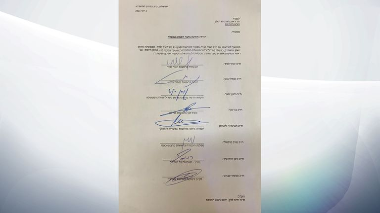 The signed letter between the parties' leaders