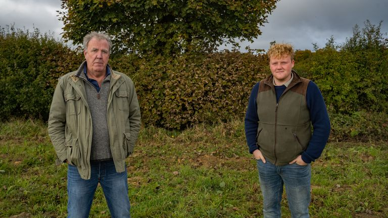 Jeremy Clarkson and Kaleb Cooper in Clarkson's Farm. Pic: Amazon Prime Video