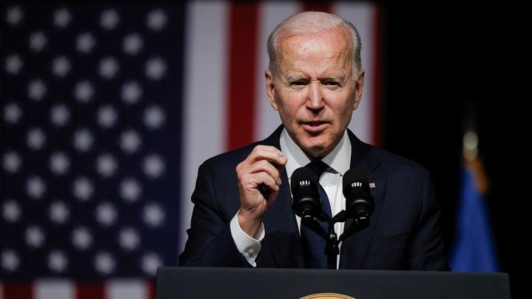 Mr Biden was speaking in Tulsa, Oklahoma