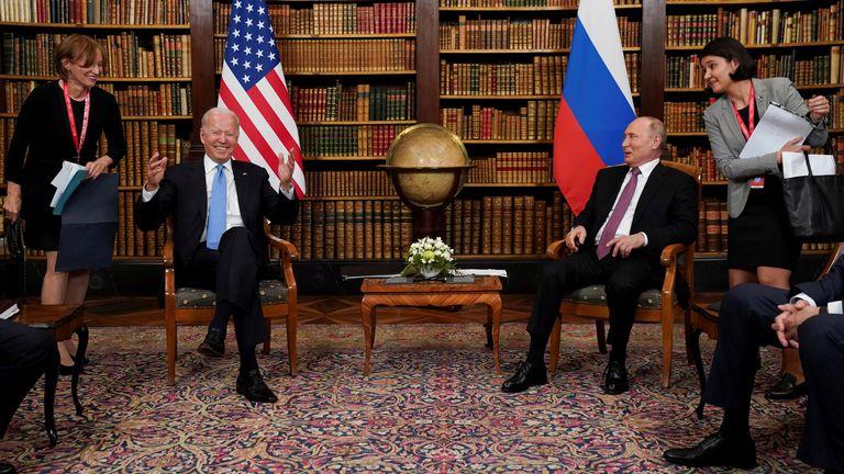 President Biden and President Putin meet in Geneva