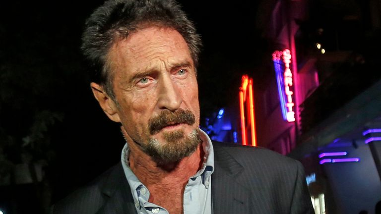 John McAfee has been found dead in a Spanish prison cell