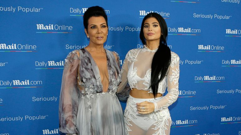 Kris and Kylie Jenner at the Cannes Lions 2015, International Advertising Festival. Pic: AP