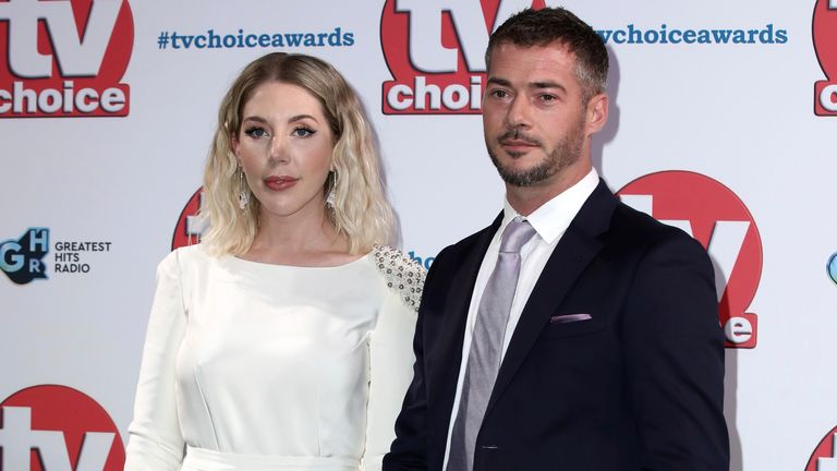 Comedian Katherine Ryan and her partner Bobby Kootstra at the TV Choice Awards in London in September 2019. Pic: AP