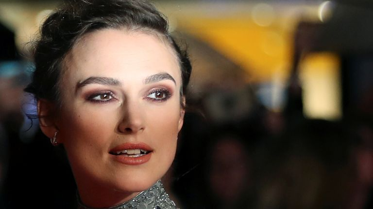 Keira Knightley at the London Film Festival in 2018