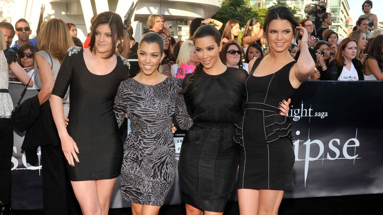 """The Kardashians arrive at the premiere of """"The Twilight Saga: Eclipse"""" on Thursday, June 24, 2010 in Los Angeles.  (AP Photo/Chris Pizzello)"""