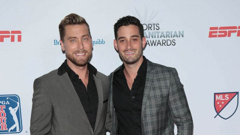 Photo by: gotpap/STAR MAX/IPx 2021 6/1/21 Lance Bass and Michael Turchin expecting Boy/Girl Twins. STAR MAX File Photo: 7/11/17 Lance Bass and Michael Turchin at The 3rd Annual Sports Humanitarian of The Year Awards in Los Angeles, CA.