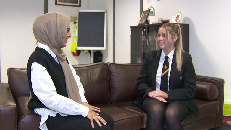 Alison, right, has received mentoring from Mariya, left, through the GROW scheme