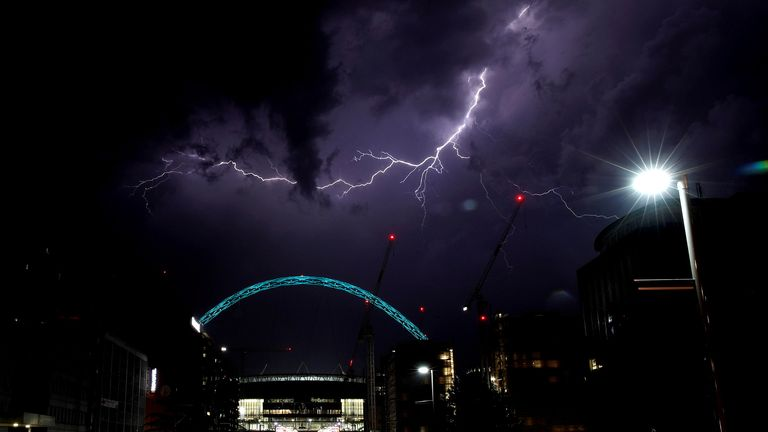 Thunderstorms are expected to move into the UK from Europe