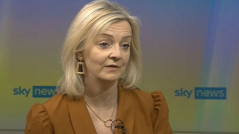 Liz Truss is asked about mandatory COVID vaccinations for care home staff