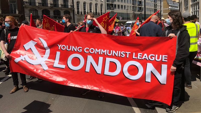 The London Communists were among those who took part