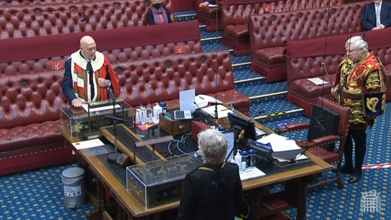 Lord Cruddas being sworn into the House of Lords