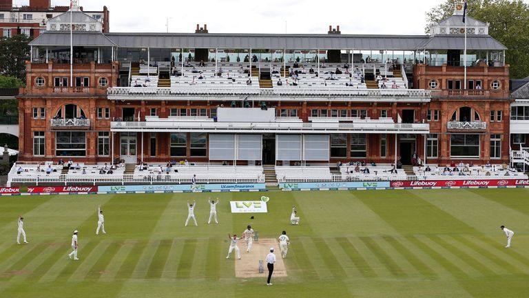 A view of Lord's on the final day of the first test against New Zealand (file pic)