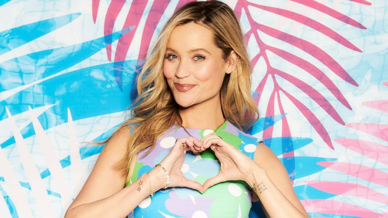 Laura Whitmore is back hosting this year's Love Island. Pic: ITV