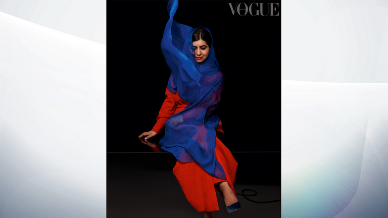 Malala says she was excited to have time for herself at university. Pic: Nick Knight/Vogue