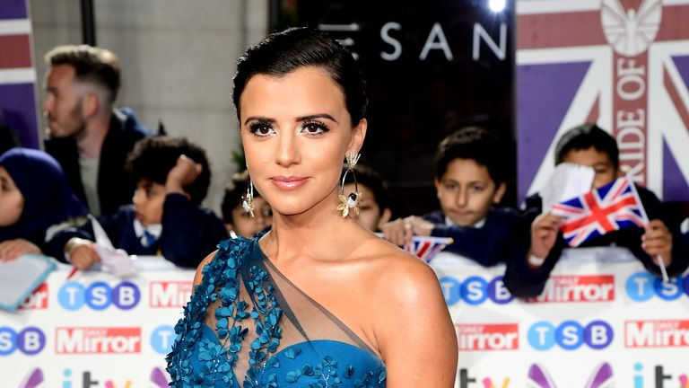 Lucy Mecklenburgh arriving for the Pride of Britain Awards held at the The Grosvenor House Hotel,… Read more Picture by: Ian West/PA Archive/PA Images Date taken: 28-Oct-2019