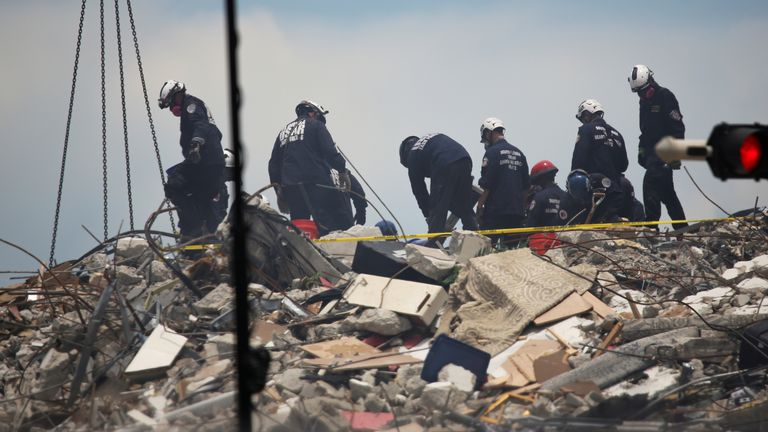 Search and rescue teams continue to try to find survivors in the rubble