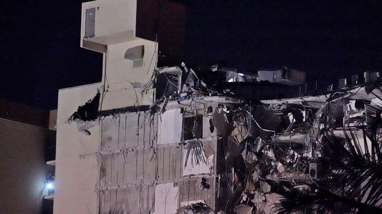 Authorities confirmed that at least one person has died after the building collapsed in Miami. Pic AP