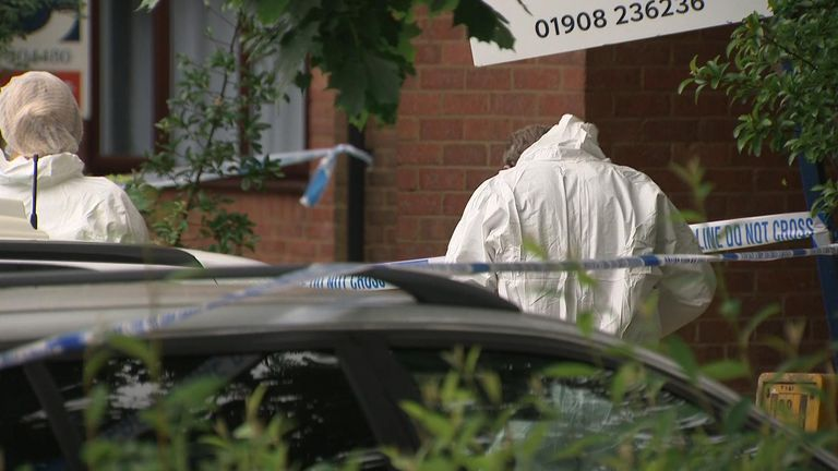 A child was taken to hospital with injuries after being removed from the house