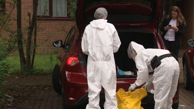 Forensic officers in Milton Keynes