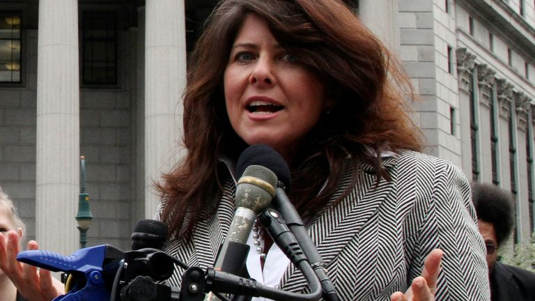 FILE - In this March 29, 2012 file photo author and political consultant Naomi Wolf speaks to reporters during a news conference in New York.  Wolf...s U.S. publisher is postponing the release of her new book, ...Outrages,... after a BBC interviewer challenged some of her findings. Wolf is openly objecting to the delay. Houghton Mifflin Harcourt announced that ...new questions... had come up about ...Outrages,... originally scheduled to come out next week. It already has been published in the United Kingdom.  On Friday, June 14, 2019, Wolf tweeted that she made what she thought were the needed changes and that she believed her book...s core findings remained valid. ...I strongly objected to this decision,... she wrote.(AP Photo/Mary Altaffer)