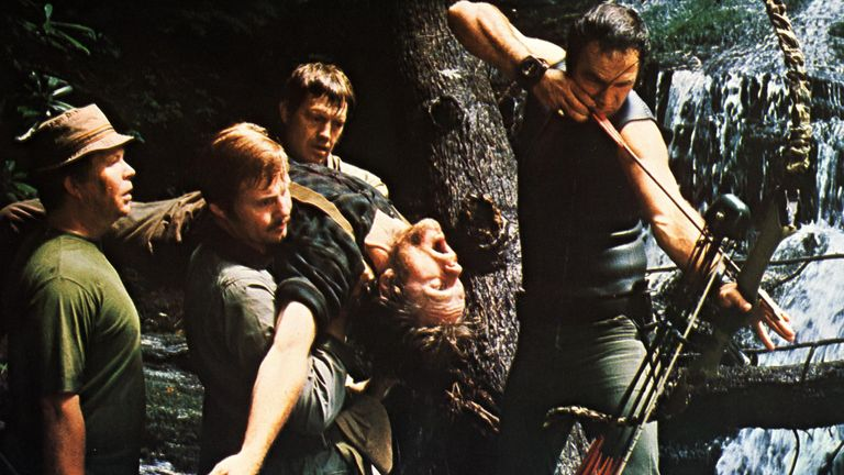 Ned Beatty, Jon Voight, Ronny Cox, Bill McKinney, Burt Reynolds in Deliverance in 1972. Pic: Warner Bros/Kobal/Shutterstock