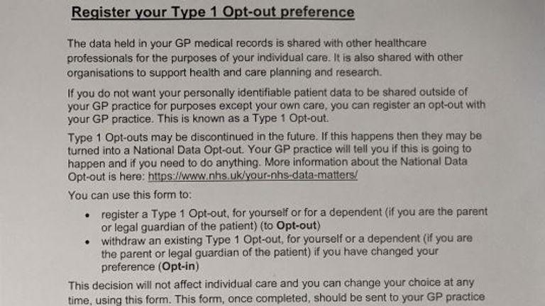 NHS data sharing scheme