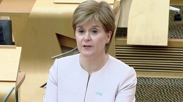 Nicola Sturgeon provides an update on COVID measures in Scotland