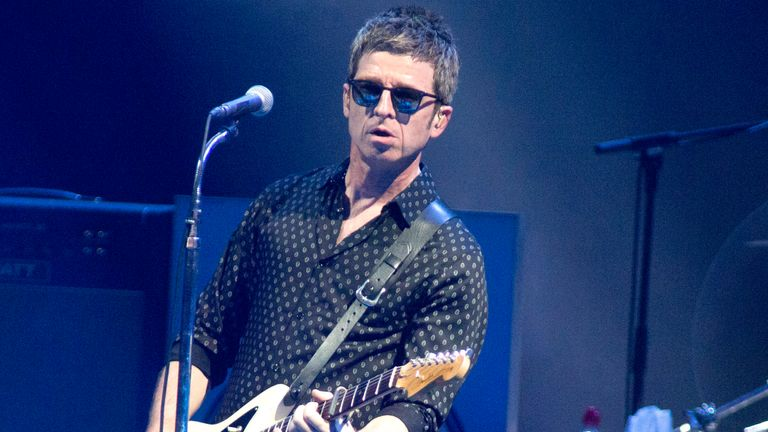Noel Gallagher, formerly of the band Oasis, performs in concert with Noel Gallagher's High Flying Birds at the BB&T Pavilion on Thursday, Aug. 8, 2019, in Camden, NJ. Pic: AP