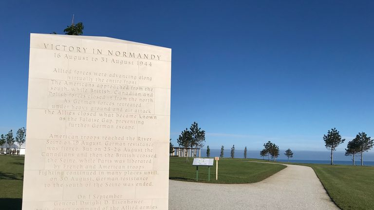 The British Normandy Memorial honours those who lost their lives under British command in Normandy 77 years ago