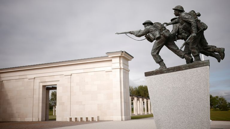 A general view of the new British Normandy Memorial at Ver-sur-Mer