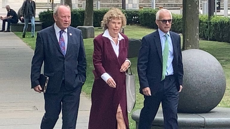 Jim Allister (left), Baroness Hoey and Ben Habib were at court to hear the decision