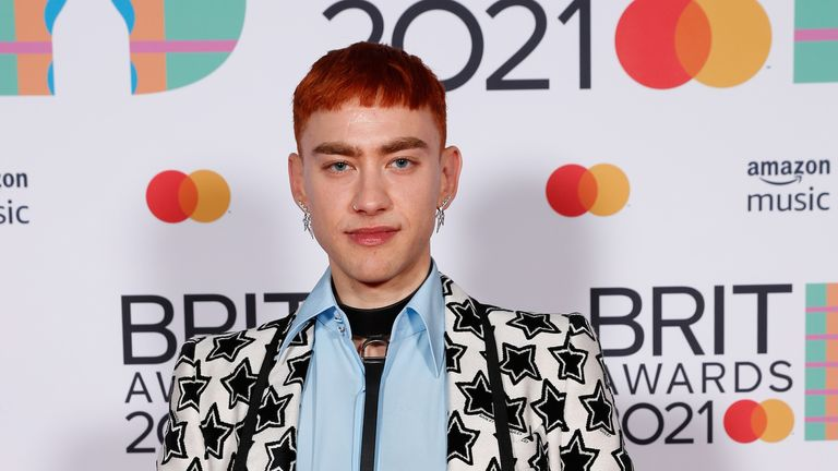 Editorial use only in print and online No use after 8th June. No archive and no resale. Handout photo issued by the Brit Awards of Olly Alexander attending the Brit Awards 2021 at the O2 Arena, London. Picture date: Tuesday May 11, 2021.