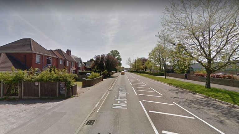 The incident took place in Nottingham Road, Somercotes. Pic: Google Street View