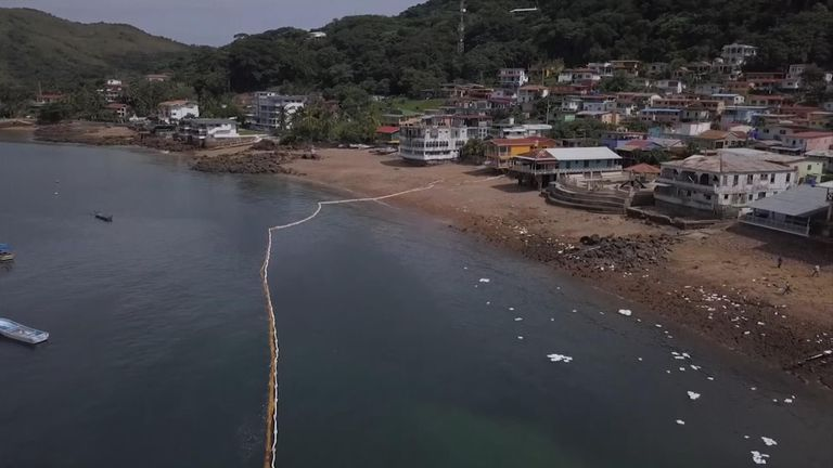 Panama cleanup of mystery substance spill
