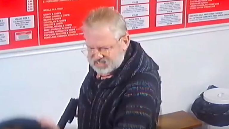 Paul Griffiths pulled out the imitation firearm in a kebab shop